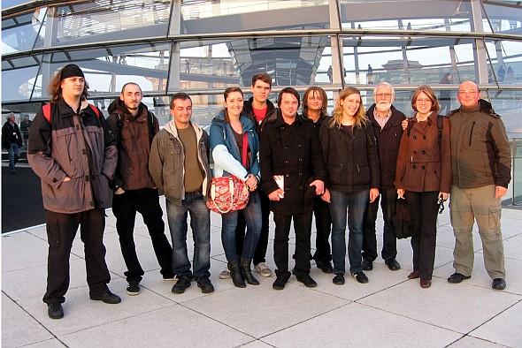 Gruppenbild auf dem Reichstag