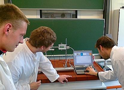 Messung mit dem neuen Gaschromatographen